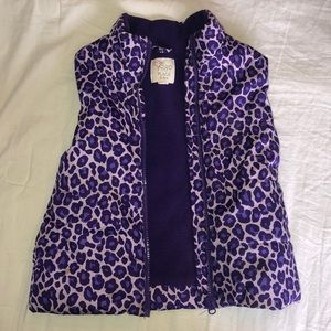 Children's Place  girls purple puffer vest